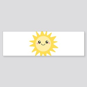 Cute happy sun Sticker (Bumper)