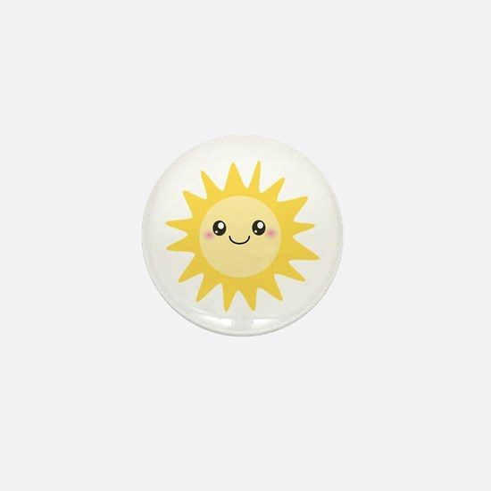 Cute happy sun Mini Button