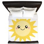 Cute happy sun King Duvet