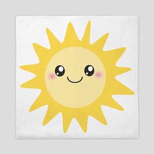 Cute happy sun Queen Duvet