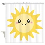 Cute happy sun Shower Curtain