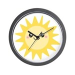 Cute happy sun Wall Clock