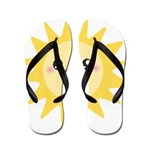 Cute happy sun Flip Flops