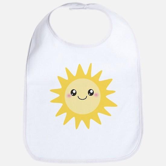 Cute happy sun Bib