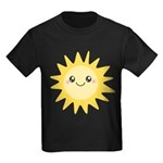 Cute happy sun Kids Dark T-Shirt