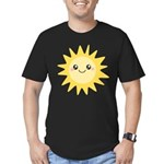 Cute happy sun Men's Fitted T-Shirt (dark)