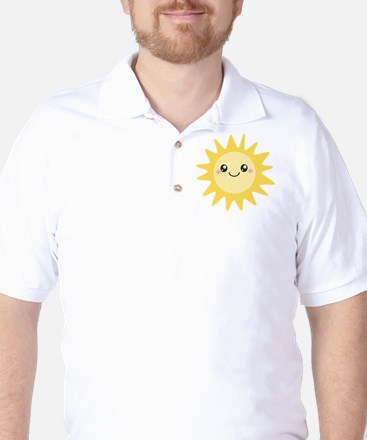 Cute happy sun Golf Shirt