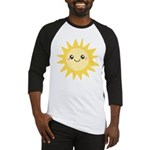 Cute happy sun Baseball Jersey