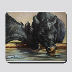 Two Black Angus Mousepad