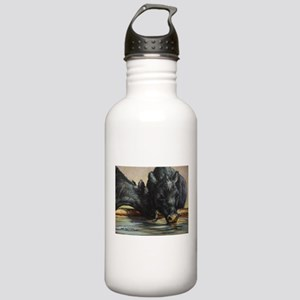 Two Black Angus Stainless Water Bottle 1.0L