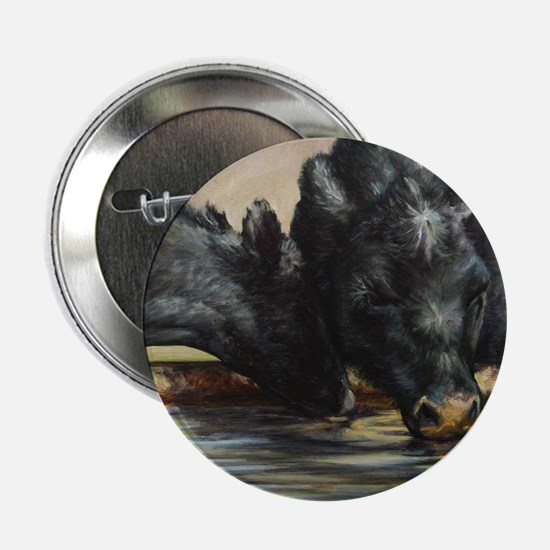 """Two Black Angus 2.25"""" Button"""