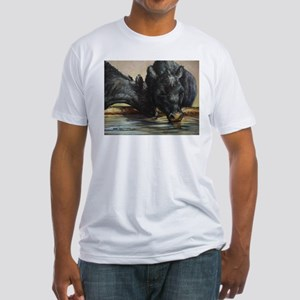 Two Black Angus Fitted T-Shirt