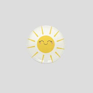 Kawaii smiley sun Mini Button