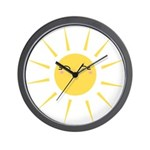Kawaii smiley sun Wall Clock