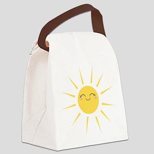 Kawaii smiley sun Canvas Lunch Bag