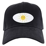 Kawaii smiley sun Black Cap