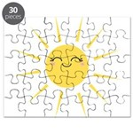 Kawaii smiley sun Puzzle