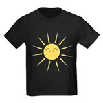 Kawaii smiley sun Kids Dark T-Shirt