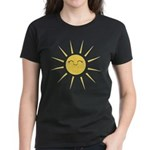 Kawaii smiley sun Women's Dark T-Shirt
