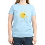 Kawaii smiley sun Women's Light T-Shirt