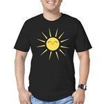 Kawaii smiley sun Men's Fitted T-Shirt (dark)