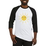 Kawaii smiley sun Baseball Jersey