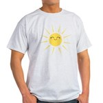 Kawaii smiley sun Light T-Shirt