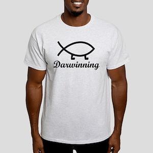 Darwinning Evolution Darwin Fish Light T-Shirt