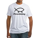 Darwinning Evolution Darwin Fish Fitted T-Shirt