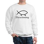 Darwinning Evolution Darwin Fish Sweatshirt