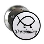 "Darwinning Evolution Darwin Fish 2.25"" Button"
