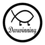 Darwinning Evolution Darwin Fish Round Car Magnet