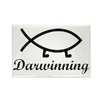 Darwinning Evolution Darwin Fish Rectangle Magnet