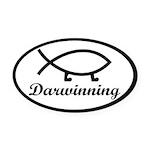 Darwinning Evolution Darwin Fish Oval Car Magnet