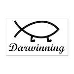 Darwinning Evolution Darwin Fish Rectangle Car Mag