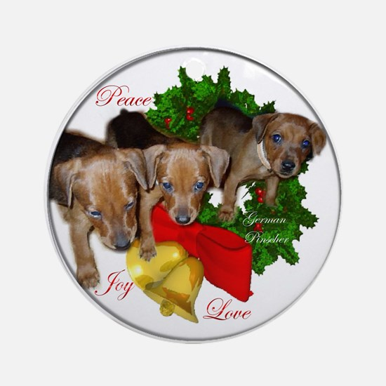 German Pinscher Christmas Round Ornament