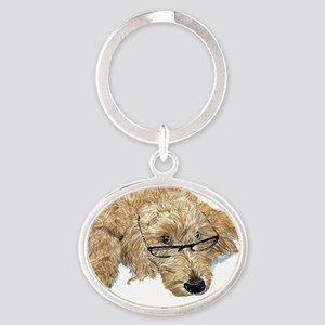 Goldendoodle Stella Oval Keychain