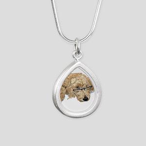 Goldendoodle Stella Silver Teardrop Necklace