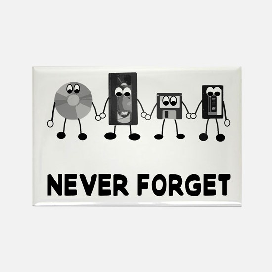 Never Forget Obselete Rectangle Magnet