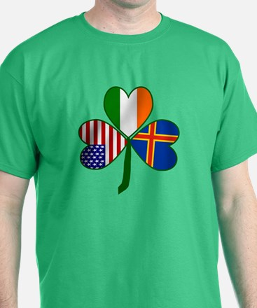 Aaland Islands Shamrock T-Shirt