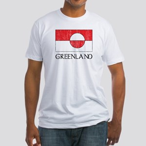Retro Greenland Flag Fitted T-Shirt