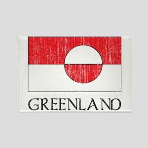 Retro Greenland Flag Rectangle Magnet