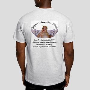 Mommy/Angel Bryan on back grey T-shirt