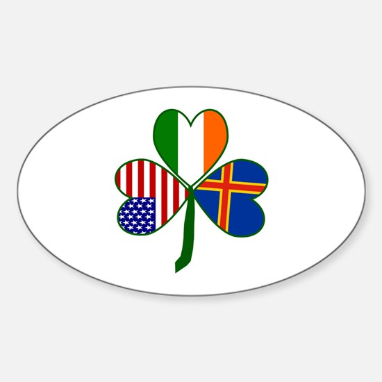 Aaland Islands Shamrock Sticker (Oval)