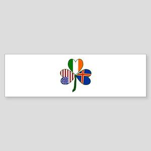Aaland Islands Shamrock Sticker (Bumper)