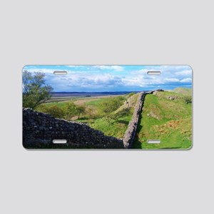 Hadrian's Wall Aluminum License Plate
