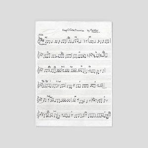 Handwritten Sheet Music Song Keep Of 5'x7'