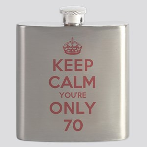 K C Youre Only 70 Flask