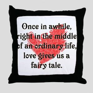 Fairy Tale Love Throw Pillow