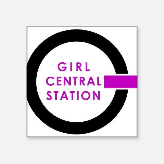 "Girl Central Station Logo Square Sticker 3"" x 3"""